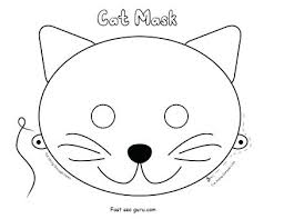 cat mask coloring craft catwoman mask hellokids