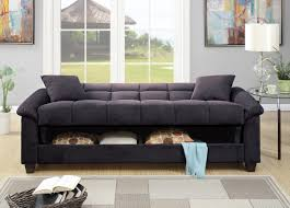 ebony microfiber sofa bed futon caravana furniture