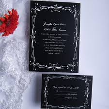and white wedding invitations classic black and white wedding invitations ewi014 as low as 0 94