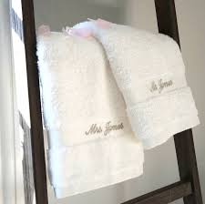 wedding gift towels personalised mr and mrs wedding towels by the alphabet gift shop