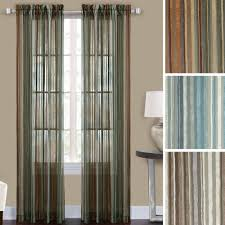 percy striped semi sheer curtain panels