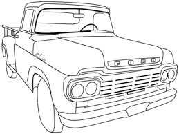 coloring page car and truck