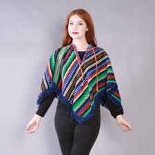 Mexican Rug Sweater Shop Mexican Ponchos And Capes On Wanelo