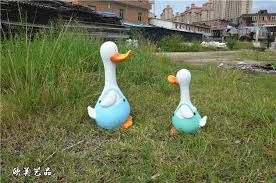 2pcs simulation duck ornaments tianyuan ting animal