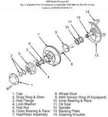 2000 honda passport front wheel bearings drive train axles