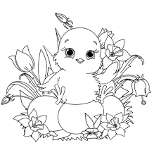 cute coloring pages for easter best printable cute easter chick coloring pages easter free 4099