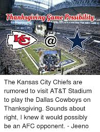thanksgiving came rossibility at t the kansas city chiefs are