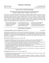 marketing manager resume examples resume example and free resume