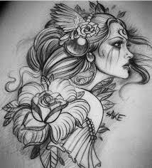 water color medusa tattoo design