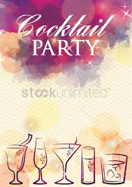 cocktail party poster design vector image 1964327 stockunlimited