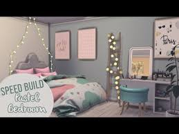 Pastel Bedroom Furniture Pastel Bedroom The Sims 4 Speed Build Youtube