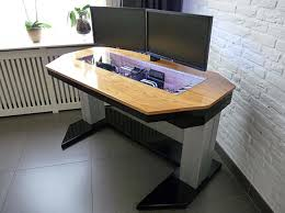 Custom Pc Desk Case Adjustable Custom Computer Desk Mod Fit For A True Geek Custom
