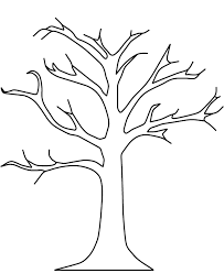 Fall Tree Coloring Pages Without Leaves Coloringstar Tree Coloring Pages