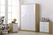 White Gloss Bedroom Furniture EBay - White high gloss bedroom furniture set