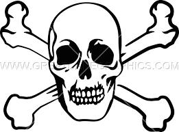 skull cross bones production ready artwork for t shirt printing