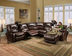 furniture awesome reclining leather sectional with chaise design