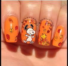 Nail Art Thanksgiving Best 25 Snoopy Nails Ideas On Pinterest Cartoon Nail Designs
