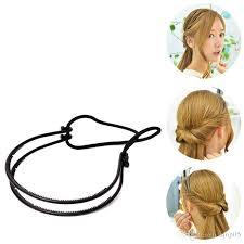 elastic hair band hairstyles dual grip elastic twisted hairstyles headband double hair clip