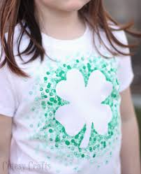 eraser stamped st patrick u0027s day shirt cutesy crafts