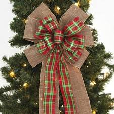 christmas bows for sale christmas burlap bows package bows