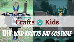 no sew wild kratts bat costume crafts for kids pbs parents