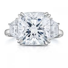 cut engagement ring lepozzi 5 31 ct cushion cut engagement ring