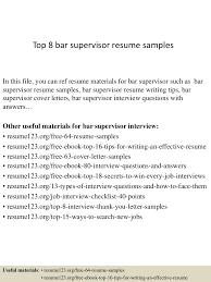 Construction Site Supervisor Resume Sample by Top8barsupervisorresumesamples 150402095523 Conversion Gate01 Thumbnail 4 Jpg Cb U003d1427986566