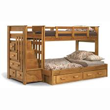 bathroom classic look kids room natural walnut wood loft bed