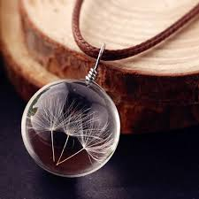 silver ball pendant necklace images 2018 dandelions glass ball pendant necklace transparent in jpg