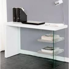 bureau blanc laqué bureau d angle décor bobby avec 6 étagères comparer avec