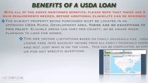 what are the benefits of a usda rural home loan youtube