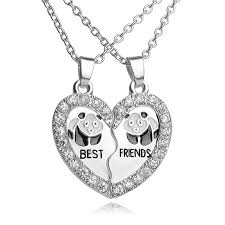 best friends heart necklace images Best friends panda heart necklace superseriouspanda jpg