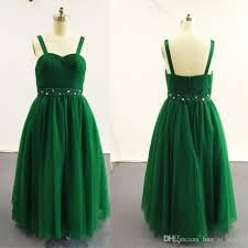 green tulle 2016 green gown girl pageant dresses strapped