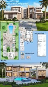 2nd Floor House Plan by Best 25 Modern House Plans Ideas On Pinterest Modern House