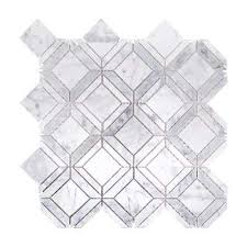 Marble Mosaic Floor Tile Mosaic Tile Tile The Home Depot