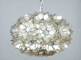How To Make Chandelier At Home Capiz Shell Floral Pendant Chandelier Dining Room