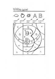 esl kids worksheets letter b