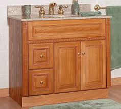 minimalist small oak bathroom cabinets with white sink