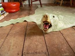 bear skin rugs for the peta crowd treehugger