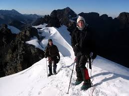 target in the summit at huayna potosi and pequeno alpamayo expedition adventure alternative