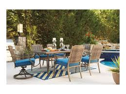 Outdoor Dining Room Signature Design By Ashley Partanna Outdoor Dining Table Set