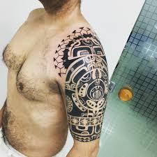 shoulder tattoos designs for men 24 tribal shoulder tattoo designs ideas design trends