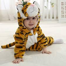 Baby Tiger Costumes Halloween Baby Halloween Autumn Christmas Hoodie Romper Tiger Animals