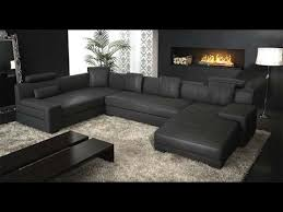 Black Sectional Sofa With Chaise Impressive Black Leather Sectional Within Modern