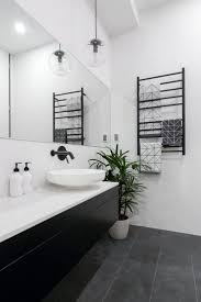 best 25 black white bathrooms ideas on pinterest classic style the block 2016 week 3 main bathroom reveals katrina chambers