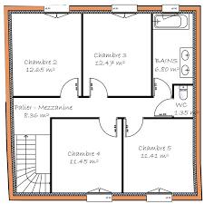 plan de maison a etage 5 chambres plan maison 5 chambres étage ideo energie