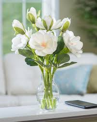artificial flower arrangements realistic magnolia silk flower arrangement from petals