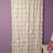 Pink Ruffle Blackout Curtains Find More Two Pottery Barn Kids White Ruffle Blackout Curtain