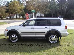 2002 mitsubishi montero full size 35l at 4x4 color gold stk 113574