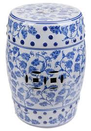 blue white garden stool chinese garden stool shopwildthings com